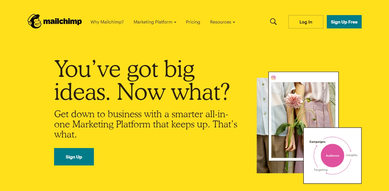 Mailchimp the best tools for startup